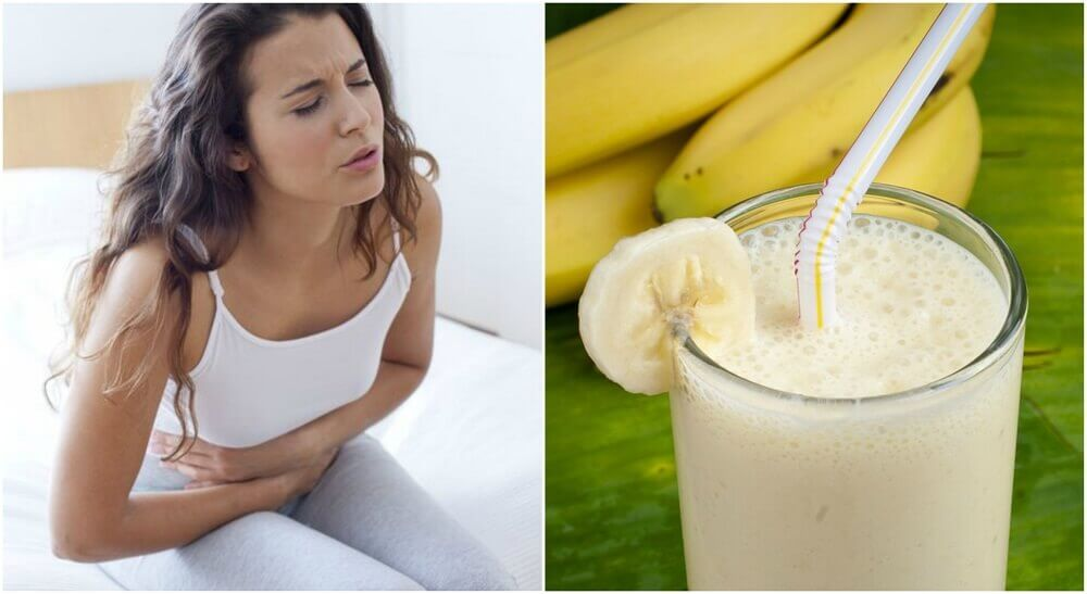 Vitamina de batata e banana para aliviar as úlceras estomacais