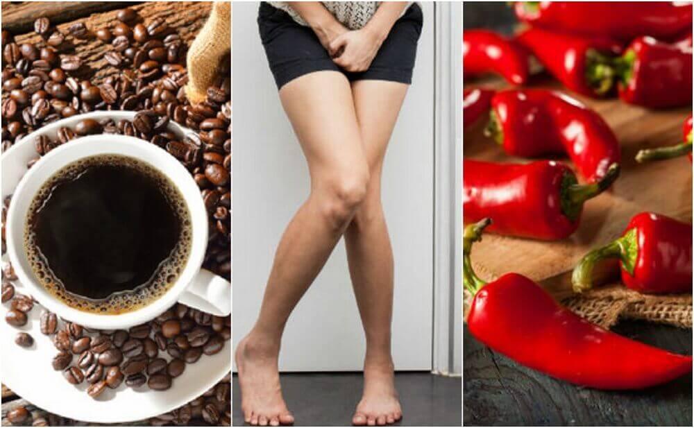 5 alimentos para evitar em caso de bexiga hiperativa