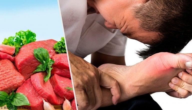 7 alimentos que aumentam o ácido úrico