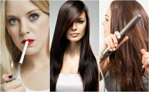 8 maus hábitos que afetam a saúde do cabelo