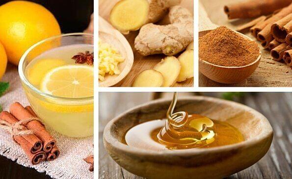 Bebida curativa de canela e gengibre para combater a tosse