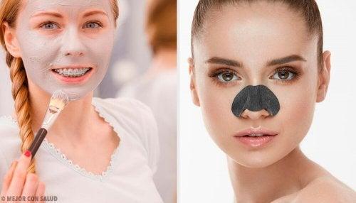 Máscaras para eliminar os cravos