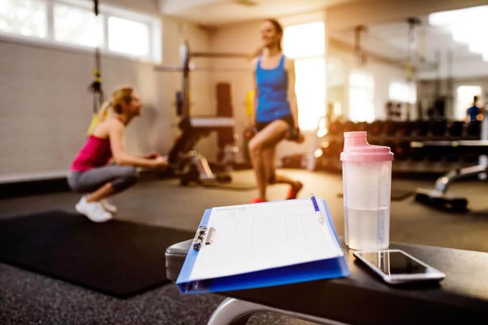 Exercícios na academia