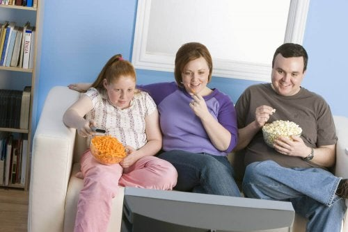 Família com sobrepeso