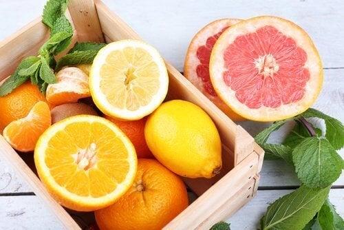 Frutas cítricas naturais