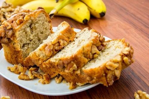 Pão de banana é uma receita adequada para diabéticos