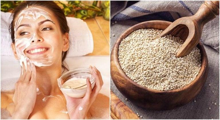 Saiba por que você deveria lavar o rosto com quinoa