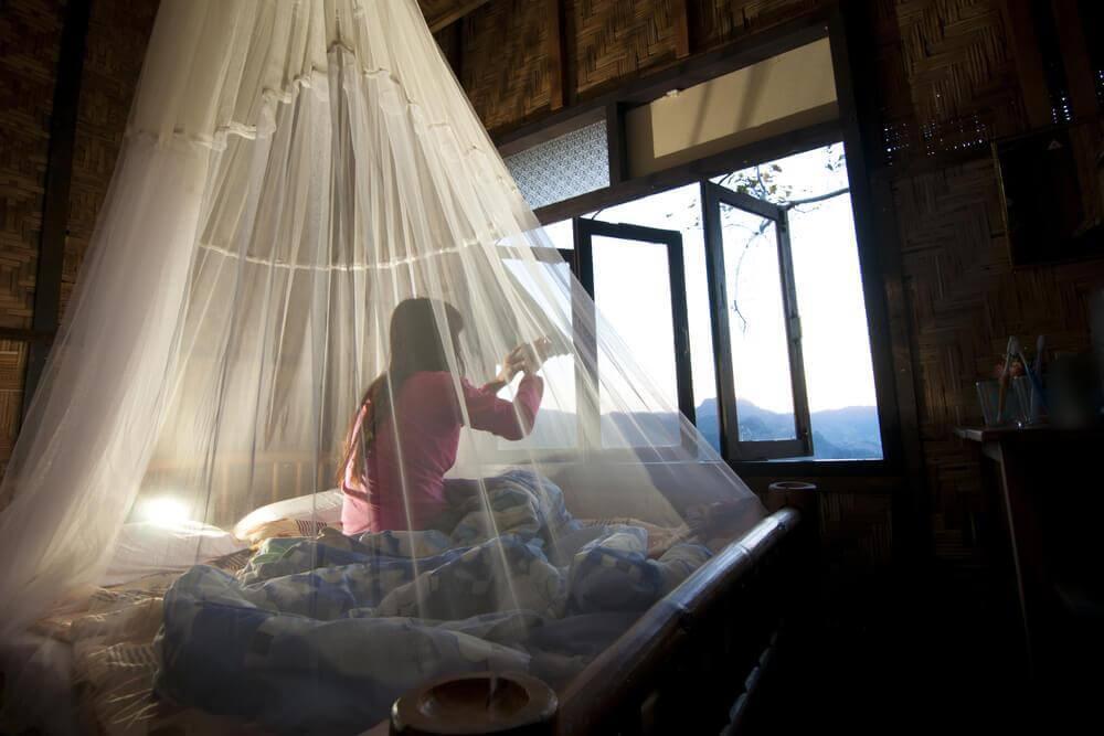 Rede para repelir mosquitos