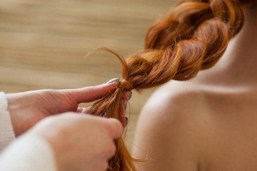 Trança em cabelo longo e saudável
