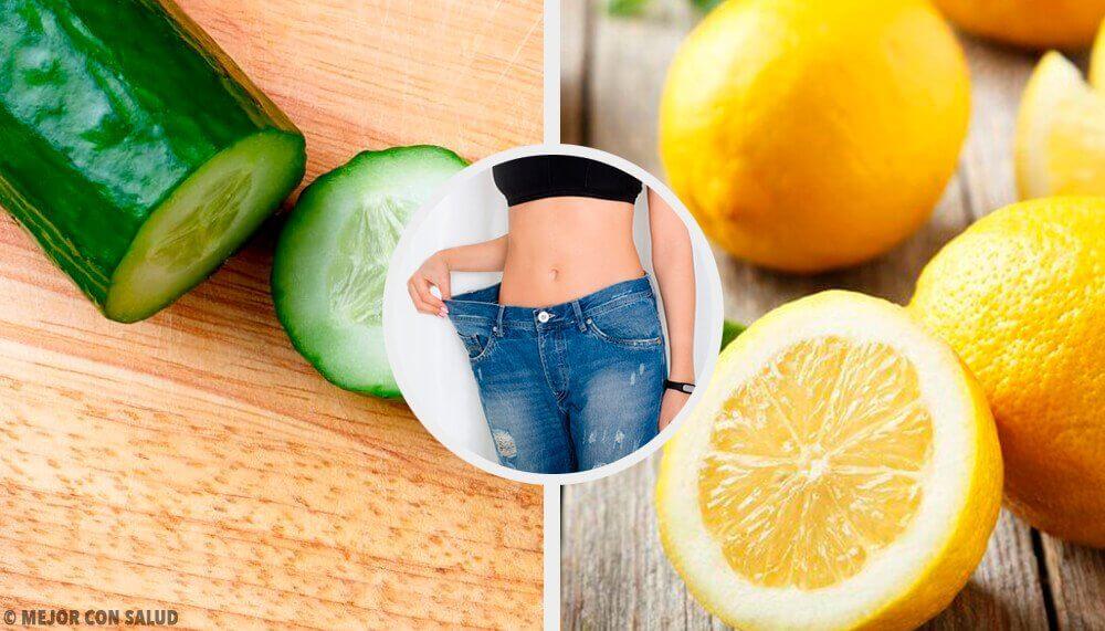 Suco de pepino, limão e hortelã para perder peso