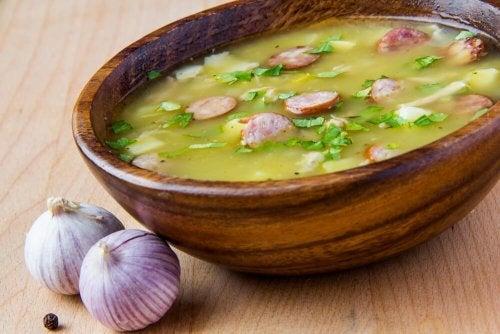 Uma deliciosa receita de sopa serrana