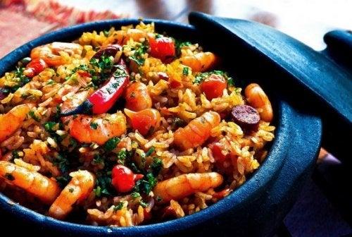 Arroz chinês com verduras