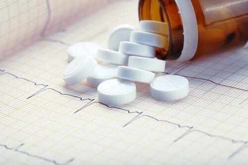 Frasco de aspirina