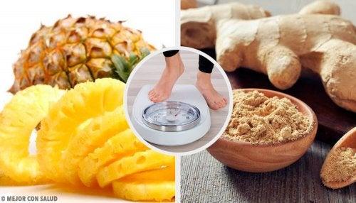 Vitamina de abacaxi e gengibre para perder peso