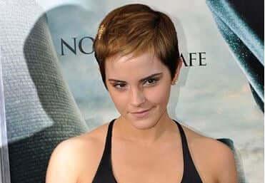 Emma Watson com cabelo estilo Pixie.