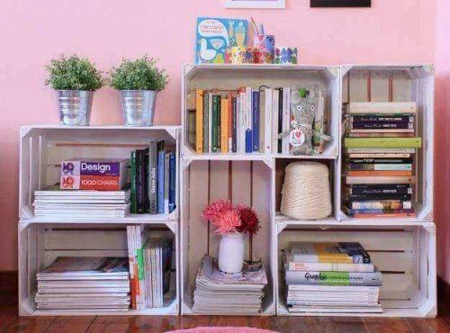 Faça sua própria estante de livros em casa