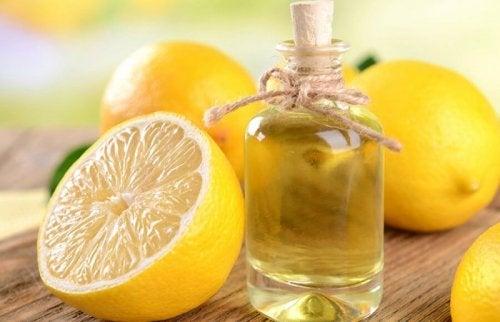 Limão com óleo de coco