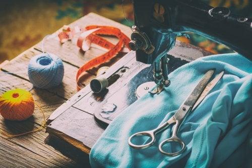Máquinas de costura para uma decoração vintage