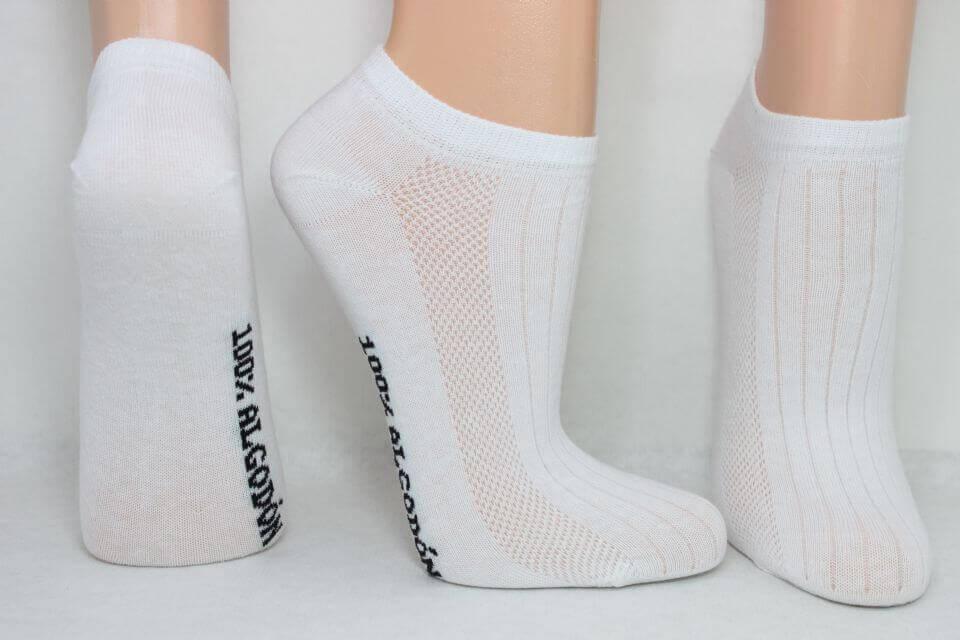 Meias de algodão
