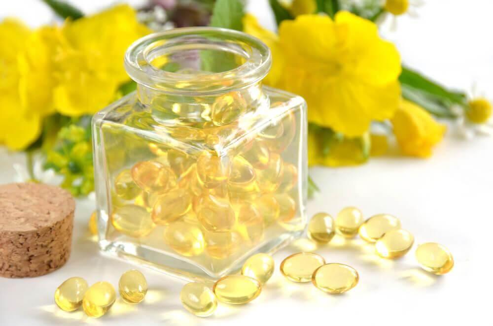 Cápsulas de óleo de prímula