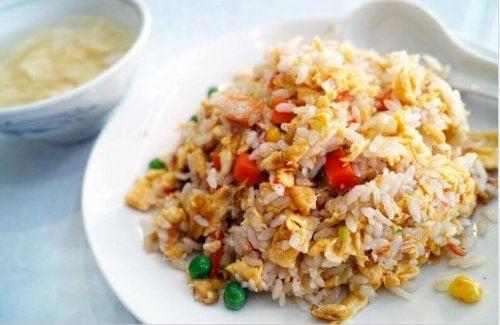 Receita deliciosa de arroz chinês