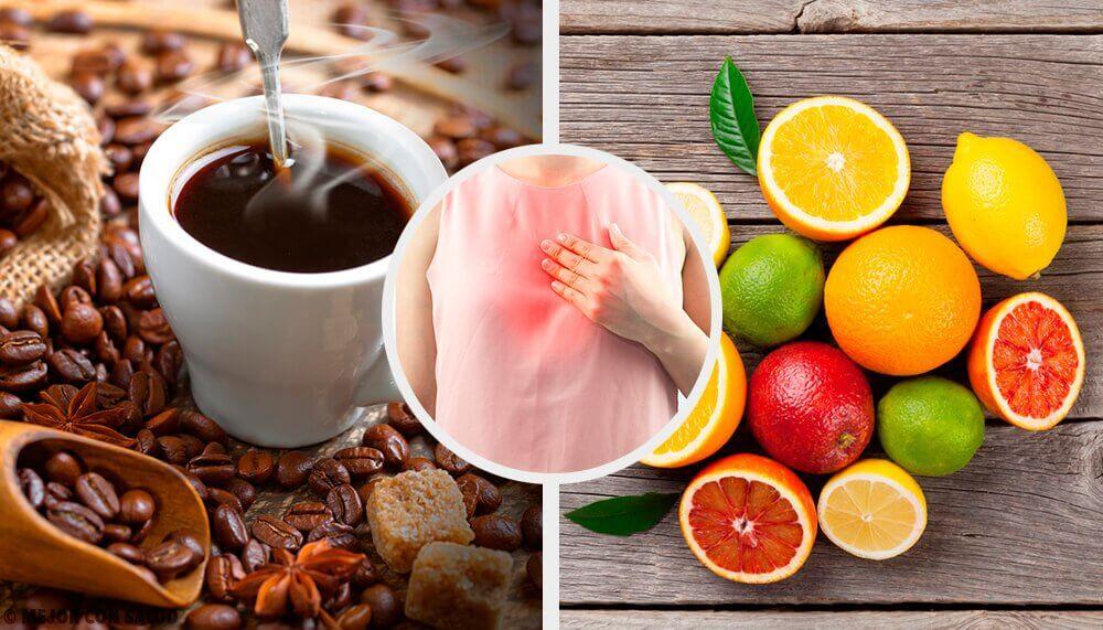 7 alimentos que devem ser evitados se você sofre de refluxo ácido
