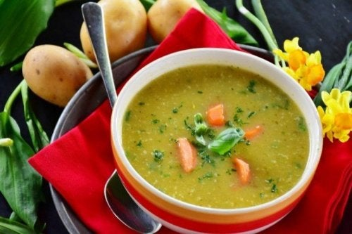 Sopa para dietas coreanas