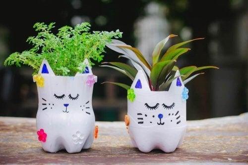 Faça seus próprios vasos de plantas em casa