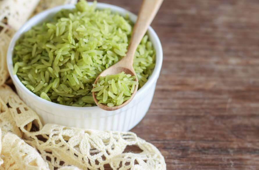 Receita deliciosa de arroz verde