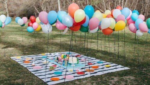 Dcoração de pic nic com balões