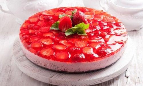 Receita de gelatina com morango