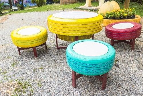 8 formas de utilizar pneus velhos