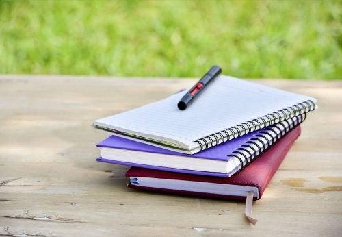 Aproveitar cadernos velhos para fazer cadernos novos