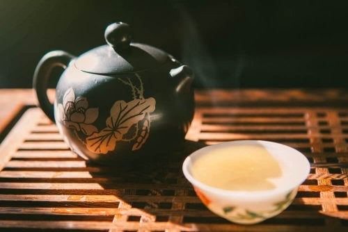 Propriedades do chá azul para a perda de peso