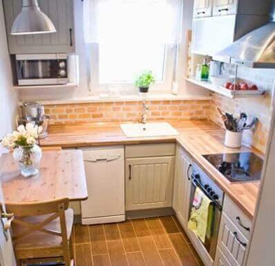 Iluminação em cozinhas pequenas