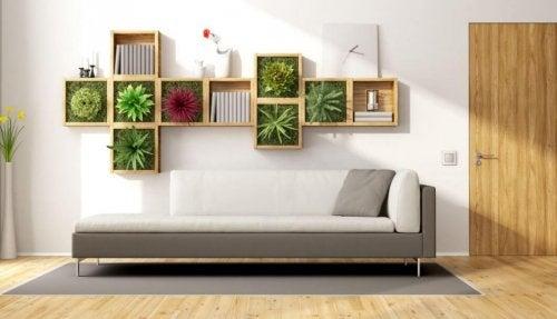 Decoração elegante com plantas