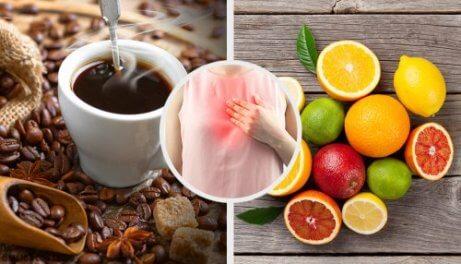 Ingredientes para tratar o refluxo
