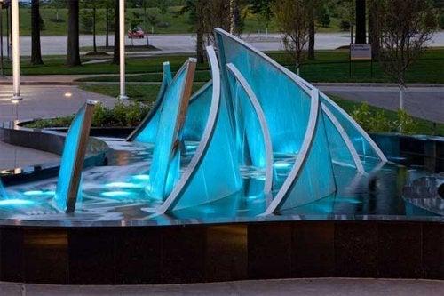 Fontes de água em vidro