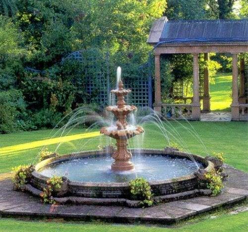 Fontes de água para jardins
