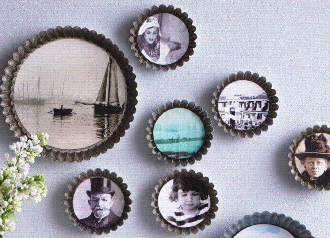 11 ideias para decorar com fotos de família