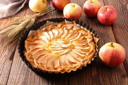 torta de maçã sem creme