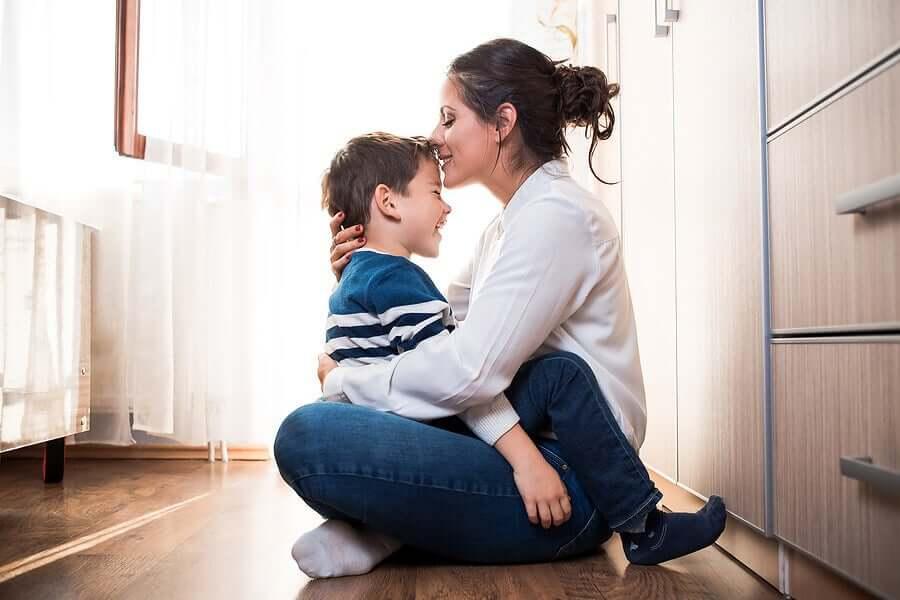 Um bom relacionamento entre mãe e filho