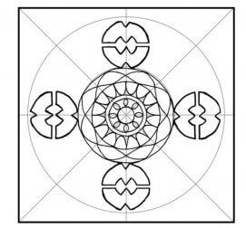 Desenho para decorar a casa com mandalas