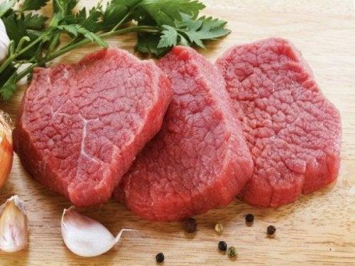 Filés de carne vermelha
