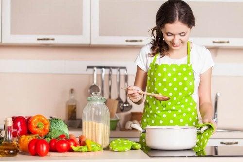 Cozinhar refeições saudáveis