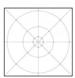 Quadro para desenhar uma mandala