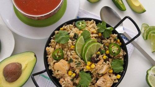 Receita de arroz verde com abacate
