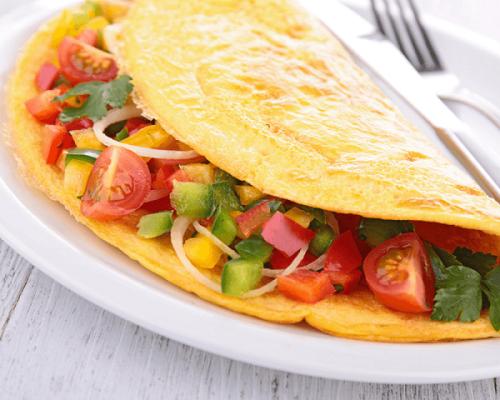 Receita para preparar uma deliciosa omelete de verduras