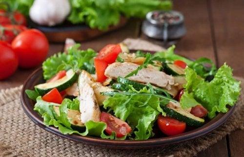 Receita deliciosa de salada de frango