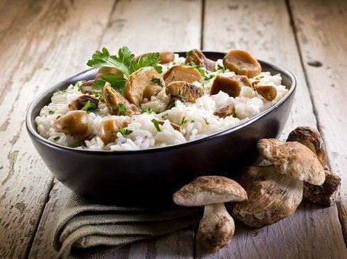 Preparar o arroz em forma de risoto